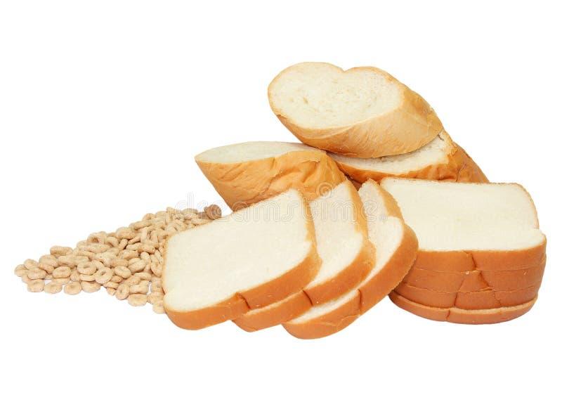 Pain et céréales photo stock