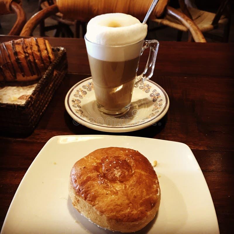 Pain et caf? photo stock