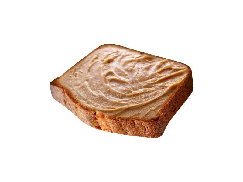 Pain grillé avec le beurre d'arachide photo libre de droits