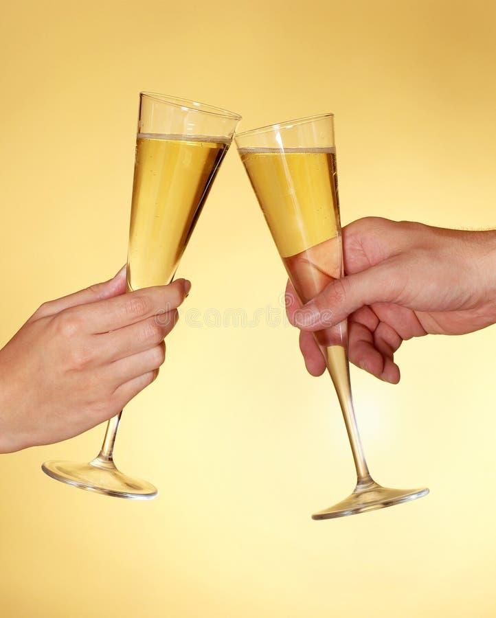 Pain grillé avec le champagne photographie stock libre de droits