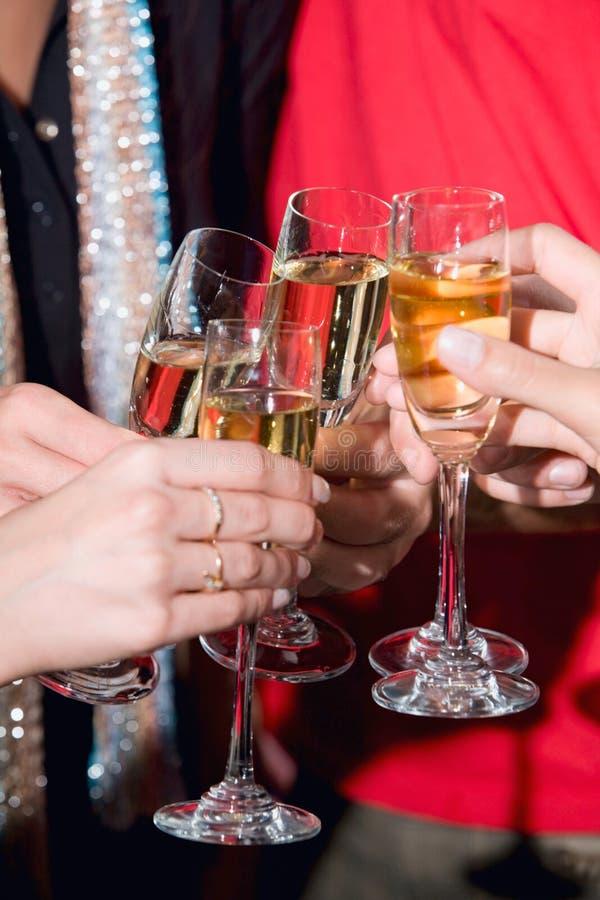 Pain grillé avec le champagne photo stock