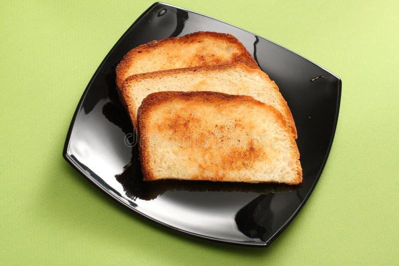 Pain grillé chaud de déjeuner image stock