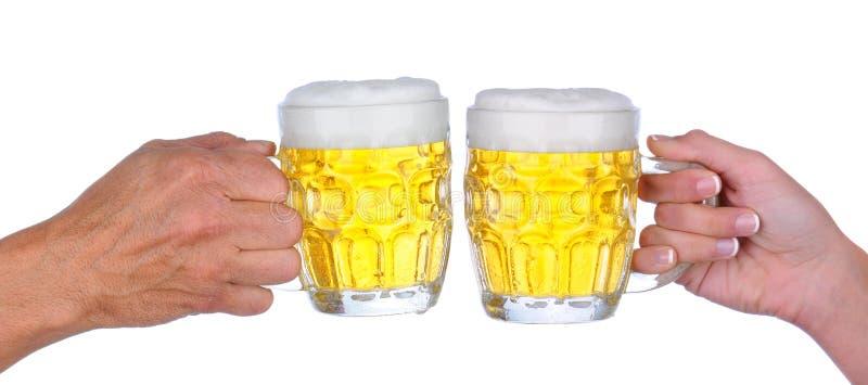 Pain grillé de bière image libre de droits