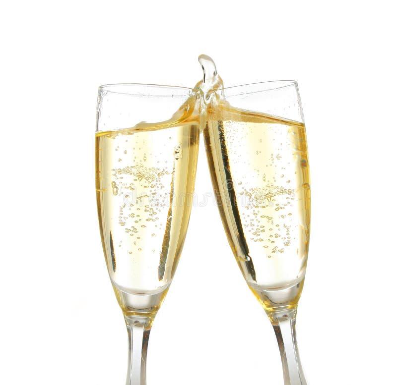 Pain grillé de célébration avec le champagne photographie stock libre de droits