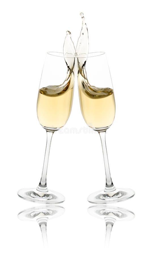 Pain grillé de Champagne photographie stock libre de droits