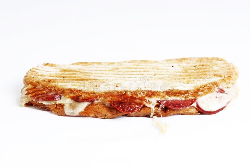 Pain grillé frais de fromage de saucisse photographie stock