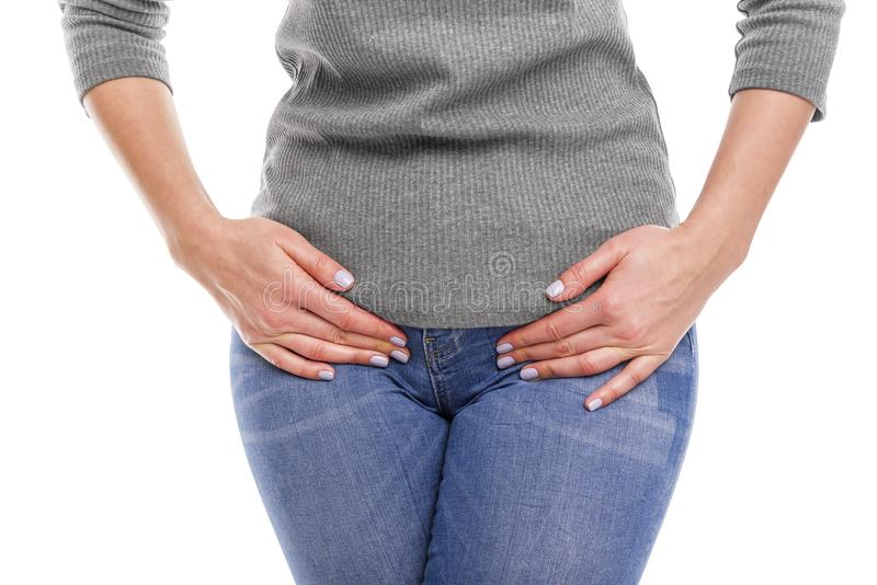 Pain in the groin. royalty free stock image