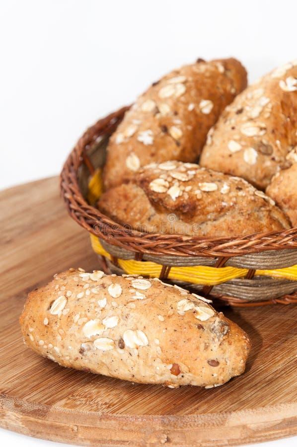 Pain intégral sain de farine de graines de céréale alimentaire images libres de droits
