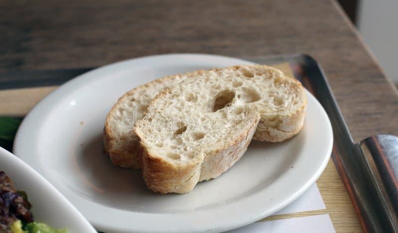 Pain italien blanc délicieux de style de Vapiano image stock