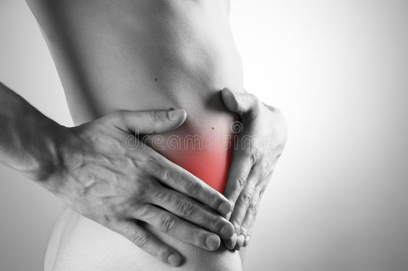 Pain in right side of body stock image  Image of back - 40613405