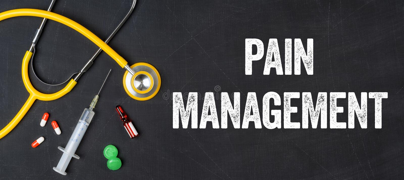 Pain management stock image