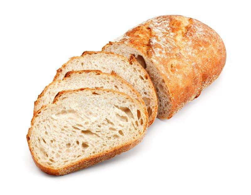 Pain non tranché traditionnel de pain photos stock