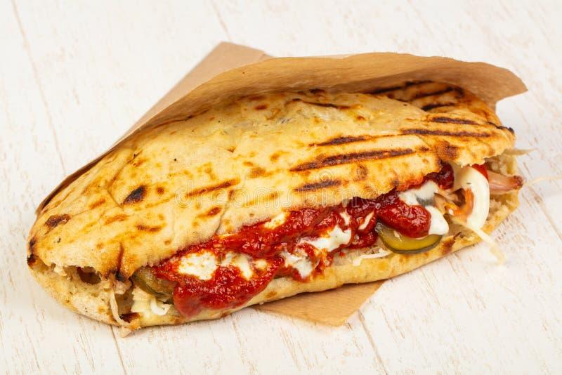 Pain pita grec délicieux photographie stock