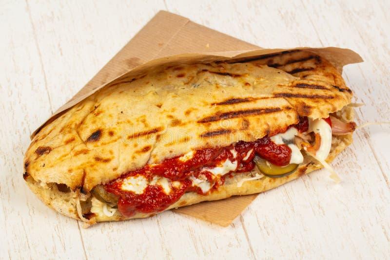 Pain pita grec délicieux photos stock