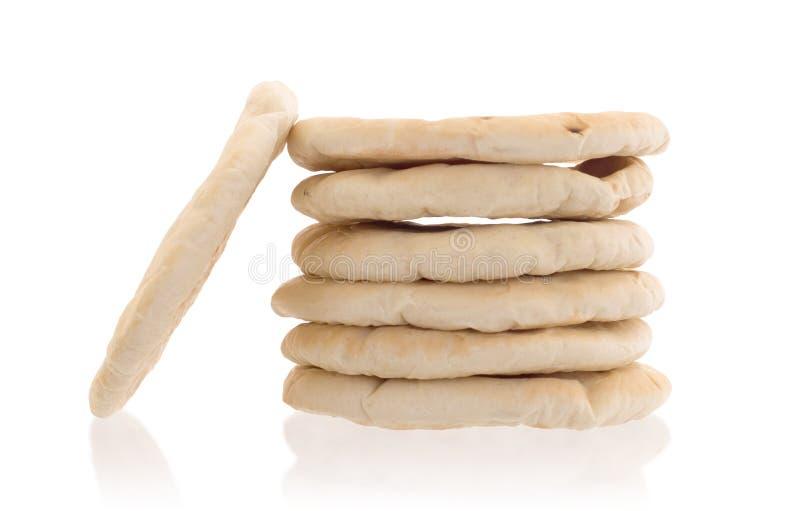 Pain pita plat israélien de pain image libre de droits