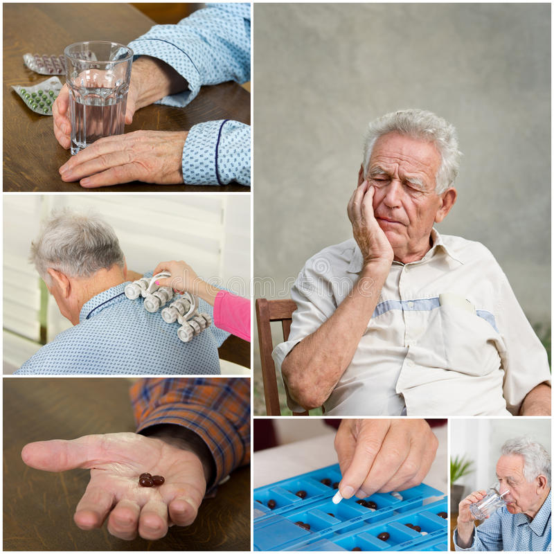 Pain relief royalty free stock photography