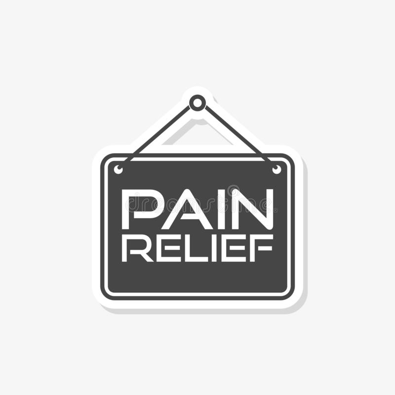 Pain relief or management by painkiller or other treatment chronic back pain sign royalty free illustration