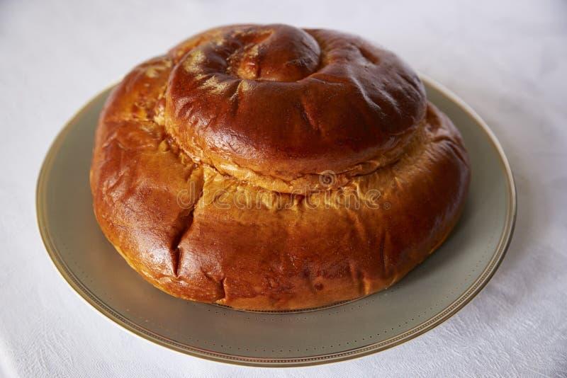Pain rond de pain du sabbat pour le hashanah de rosh, nouvelle année juive photos libres de droits