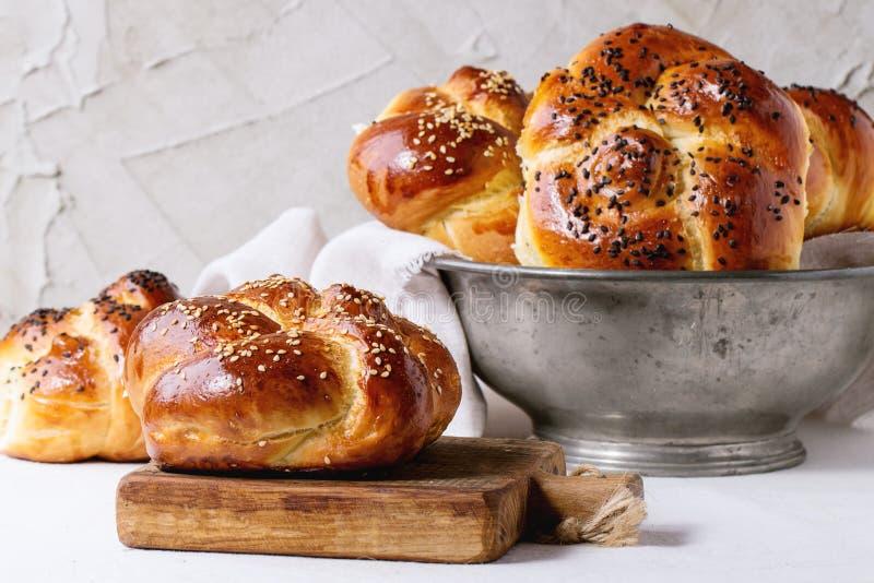 Pain rond de pain du sabbat photos libres de droits