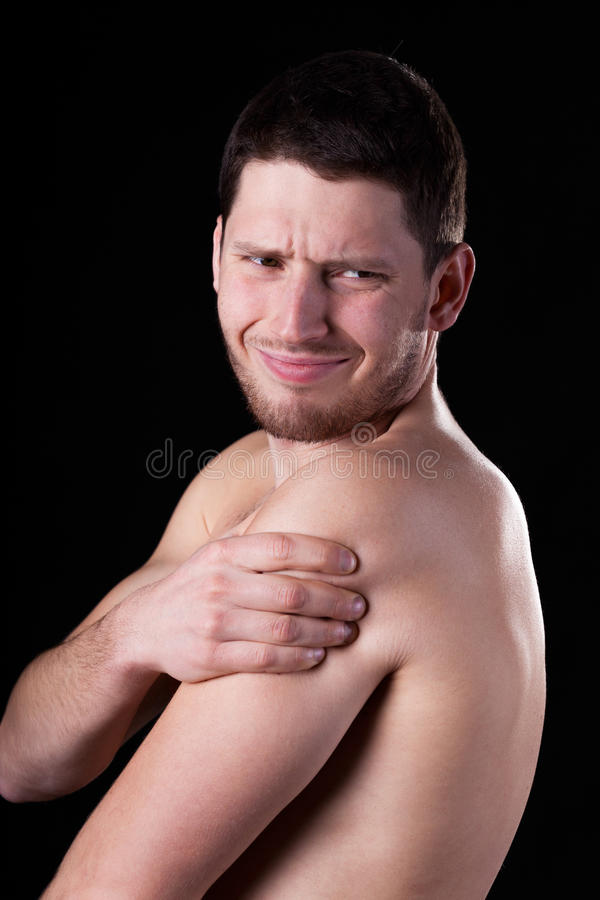 Pain of rotator cuff stock photos