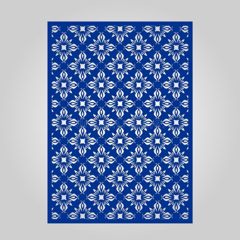Painel abstrato do entalhe para o corte, cortar ou o estêncil do laser ilustração royalty free