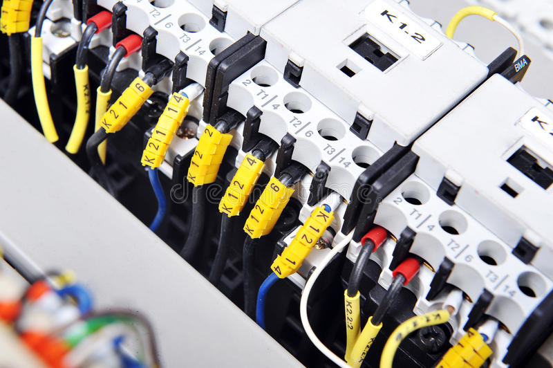 Painel com equipamento elétrico foto de stock royalty free