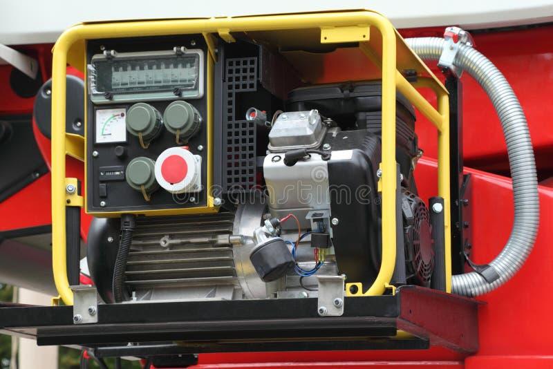 Painel com o gerador da eletricidade do estojo compacto da gasolina fotos de stock