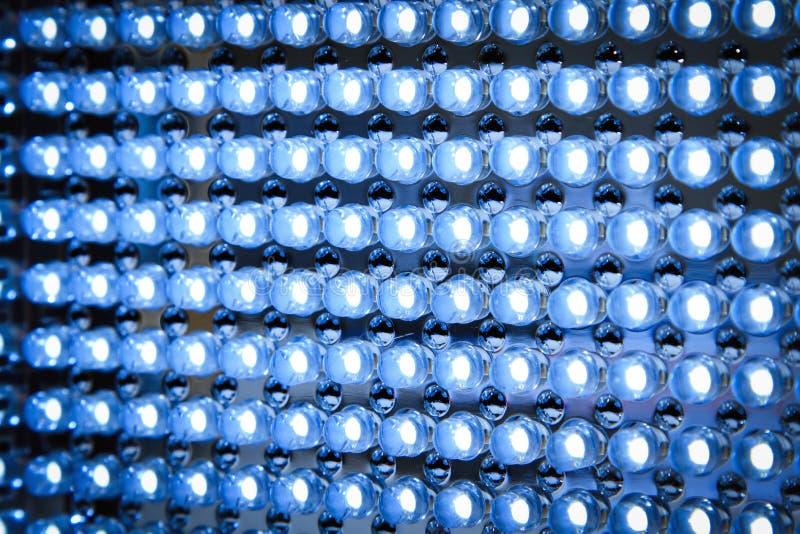 Painel conduzido no fim da luz fluorescente acima imagem de stock royalty free