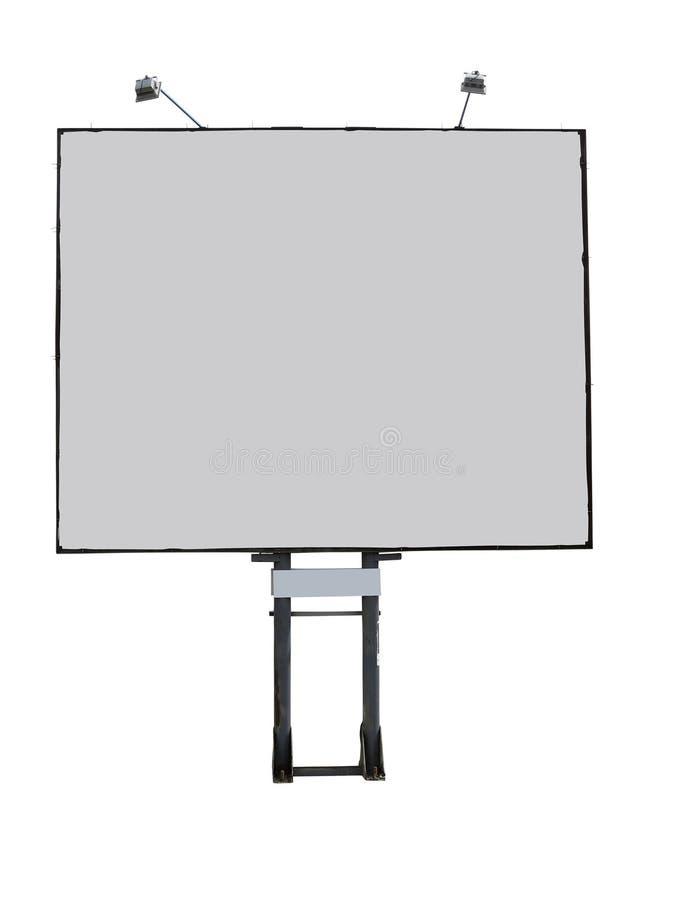 Painel da propaganda do quadro de avisos com espaço vazio e o projetor leve foto de stock