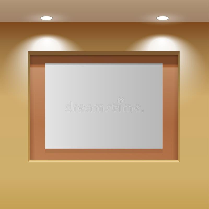 Painel da sala de exposições ilustração do vetor