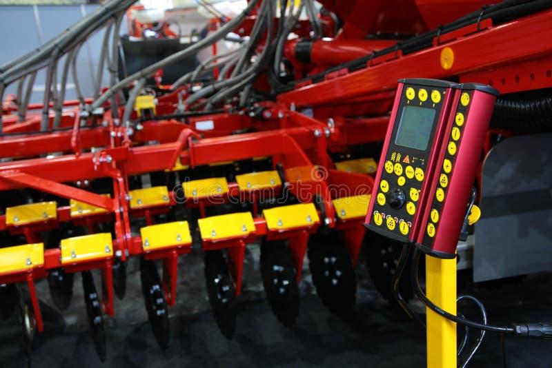 Painel de controle da grade agricultural foto de stock
