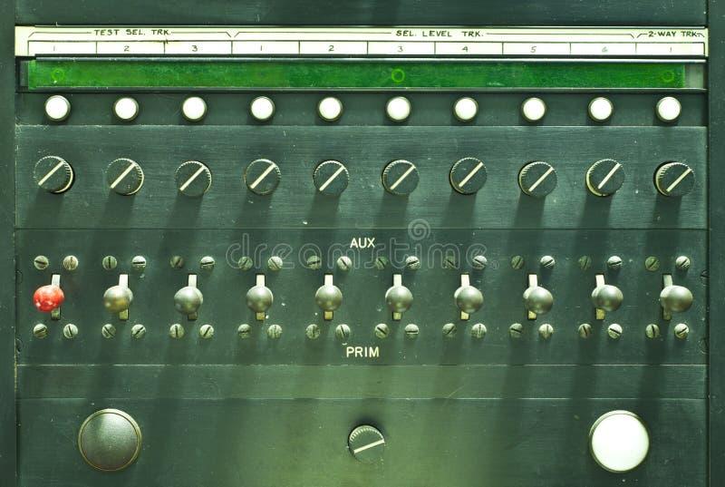 Painel de controle de uma comunicação. fotografia de stock royalty free