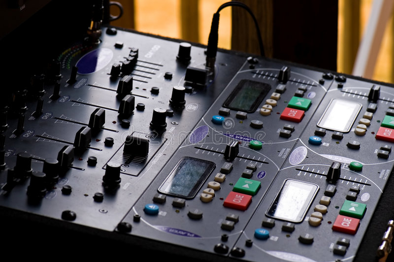 Painel de controle do sistema de som foto de stock royalty free