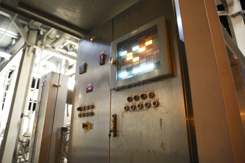 Painel de controle industrial imagem de stock