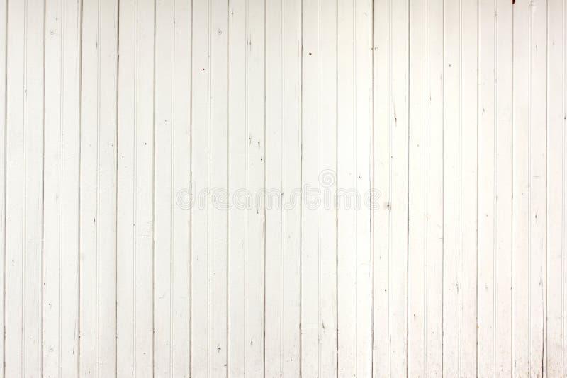 Painel de madeira branco das pranchas foto de stock