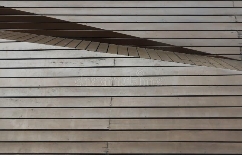 Painel de madeira de Brown com ?ngulo e camada diffent fotografia de stock royalty free