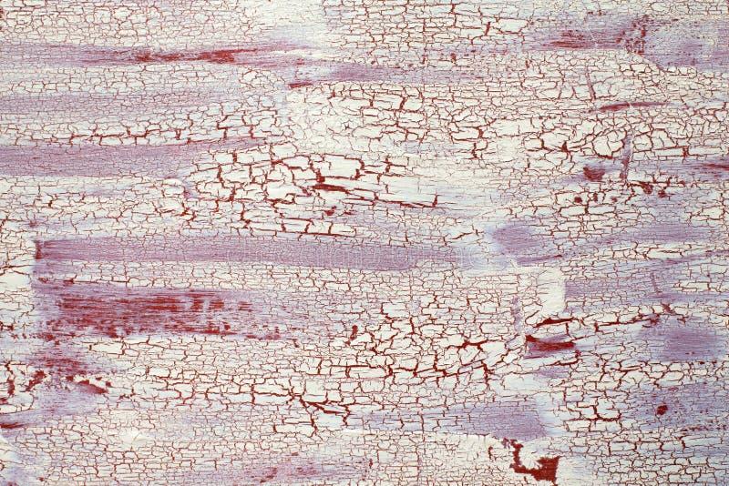 Painel de madeira com o craquelure rachado da pintura, o bege e o marrom, arte foto de stock