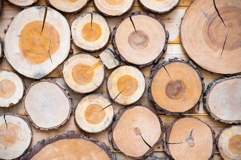 Painel de madeira feito das partes de madeira fotos de stock