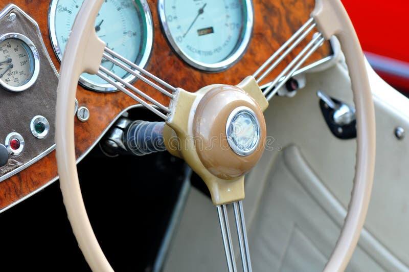 Painel do carro do vintage fotografia de stock