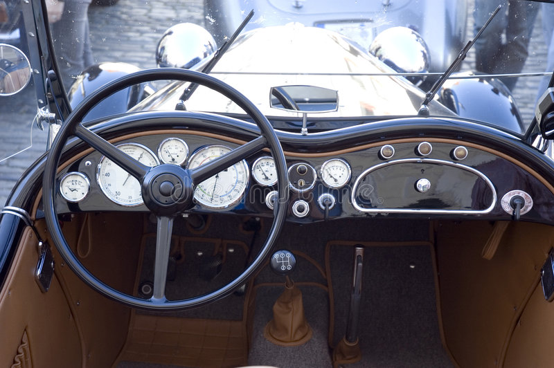 Painel do carro do vintage foto de stock royalty free