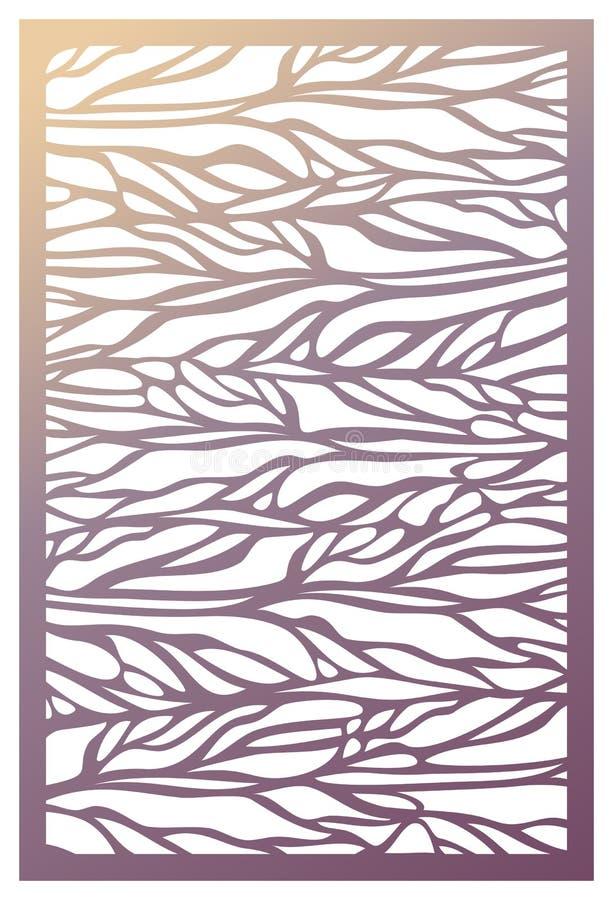 Painel do corte do laser do vetor Molde abstrato do teste padrão para decorativo ilustração do vetor
