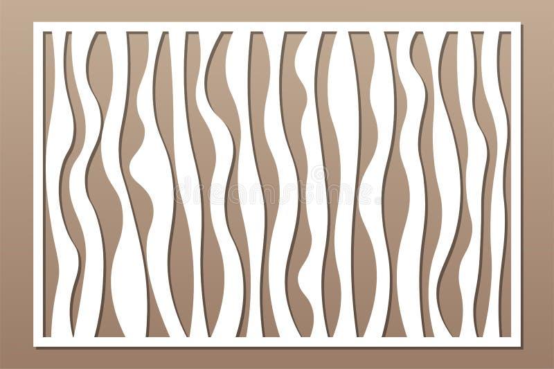 Painel do corte do laser Cart?o decorativo para cortar Linhas abstratas teste padrão da geometria da arte 2:3 da rela??o Ilustra? ilustração royalty free