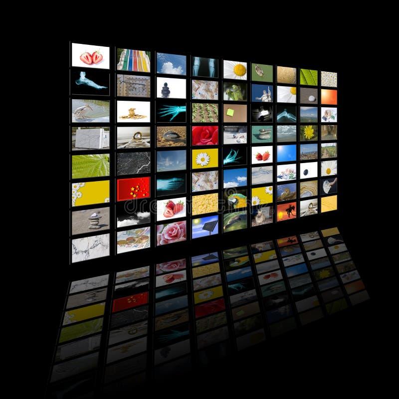 Painel do LCD ilustração stock