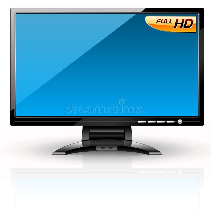Painel do LCD: Variação azul. ilustração stock