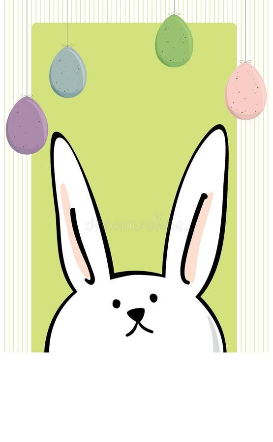 Painel do texto do coelho de Easter ilustração royalty free