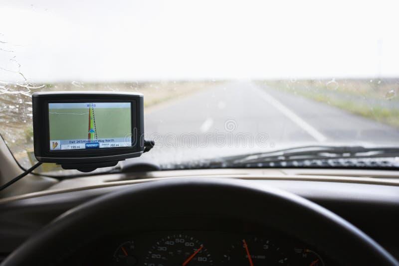 Painel do veículo com GPS. fotos de stock royalty free