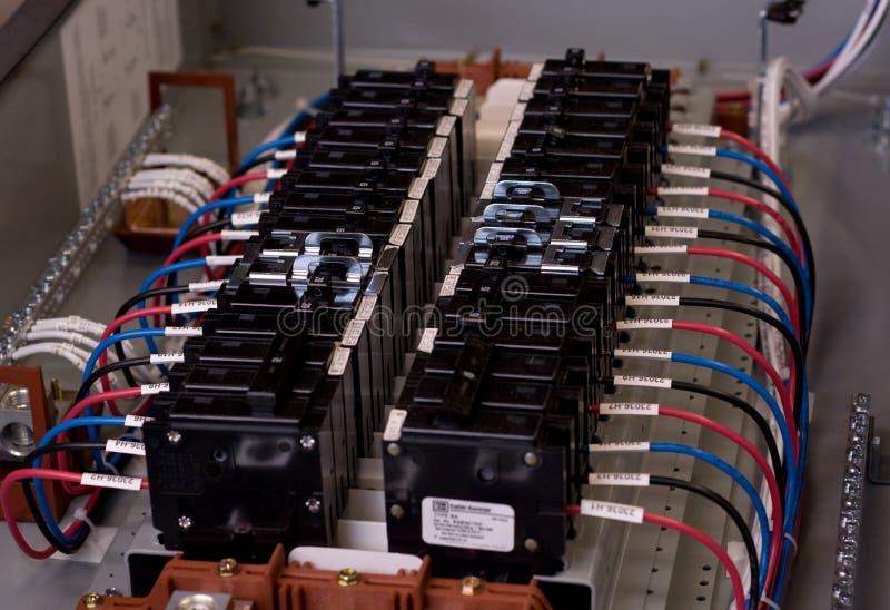 Painel elétrico aberto fotos de stock