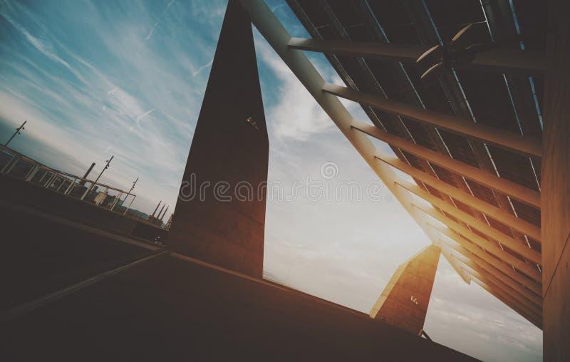 painel fotovoltaico da Alto-tecnologia fotografia de stock