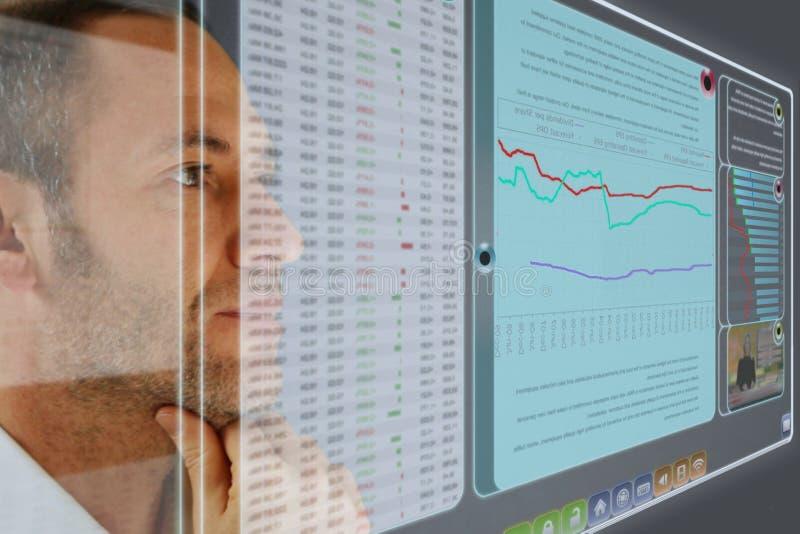 Painel futurista do LCD imagem de stock