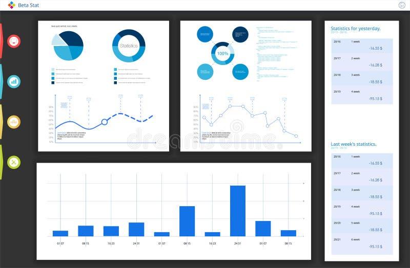 Painel, grande projeto para algumas finalidades do local Molde infographic do neg?cio Ilustra??o lisa do vetor ilustração royalty free